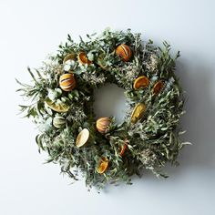 I am definitely making this for the holidays next year.  Citrus Wreath on Provisions by Food52