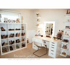 Makeup/dressing room featuring our Deluxe Beauty Box. Shop www.originalbeautybox.com