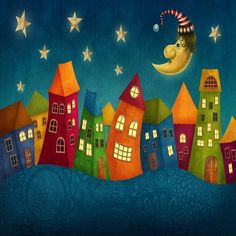 Custom Mural Wallpaper for Kid's Room Cartoon Castle (㎡) - BVM Home brings together a thrilling selection of wallpapers, wall murals, and home décor accessori - Vinil Wallpaper, Kids Room Wallpaper, Wall Wallpaper, Kids Castle, Art Fantaisiste, Background For Photography, Photography Backdrops, Cartoon Kids, Cartoon Town