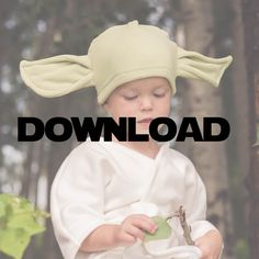 I love this Star Wars inspired Yoda Costume.  It looks easy to sew.  Great DIY idea for Halloween.   Perfect for my little boy's costume!