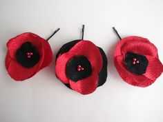Hey, I found this really awesome Etsy listing at https://www.etsy.com/listing/91283281/handmade-fabric-flower-poppy-hairpins