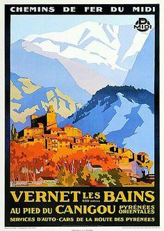 Vernet les Bains, France, poster