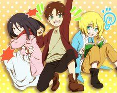 Tags: Anime, Pixiv, Shingeki no Kyojin, Mikasa Ackerman, Eren Jaeger