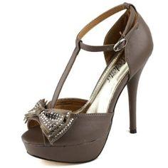 Amazon.com: Women's Platform Peep Toe Bow Decorated Stilettos High Heel Ankle T Strap Sandal Pump Fashion Shoes: Shoes