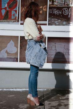 Jeans, wool, 90's