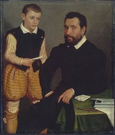 Giovanni Battista Moroni (ca.1520-1578) — Count Alborgetti and Son, 1550 : Museum of Fine Arts, Boston. USA   (851×1000)
