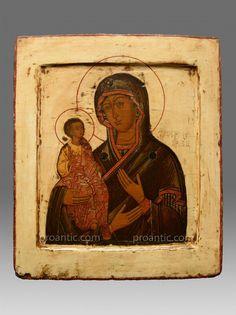 Icone La Vierge Avec Les Trois Mains Vers 1780 - Proantic.com