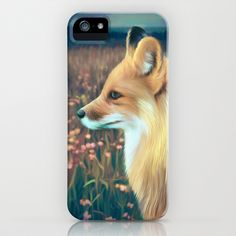 Fox+iPhone+&+iPod+Case+by+ShannonPosedenti+-+$35.00