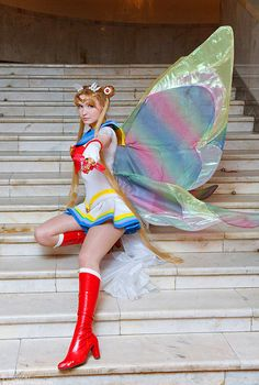 If you like cosplay you have to check out this lady - she is AMAZING! And she has TONZ of cosplay characters she's done. - Super Sailor Moon 1 by ~Usagi-Tsukino-krv on deviantART Cute Cosplay, Amazing Cosplay, Cosplay Outfits, Halloween Cosplay, Best Cosplay, Cosplay Girls, Cosplay Costumes, Anime Cosplay, Halloween 2014