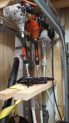 String Trimmer, Edger and Hedge Trimmer storage