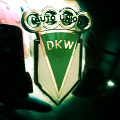 Vintage motorcycle emblems: DKW by moog_t, via Flickr AUTO UNION - THE FOUR RINGS: audi,horch,dkw,wanderer....after the war join Nsu  the company