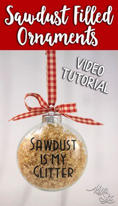 sawdust is my glitter ornaments handmade christmas - Christmas Decorations Pinterest Handmade