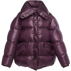Nina Ricci Puffer Coat found on Polyvore featuring outerwear, coats, jackets, purple, oversized coat, nina ricci, nina ricci coat, puffer coat and purple coats