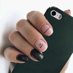 nail art designs short nails for spring 40 Trendy Nails, Cute Nails, Hair And Nails, My Nails, Nail Art Vernis, Nails 2018, Burgundy Nails, Manicure E Pedicure, Perfect Nails