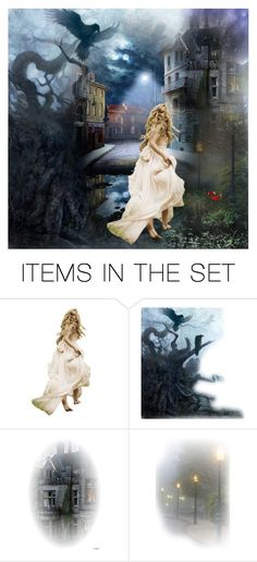 """Midnight City"" by mbilic ❤ liked on Polyvore featuring art"