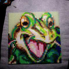 Frog Chrono Trigger perler beads by letsgomudkip