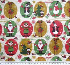 Tecido de Algodão - Natal duendes (50x140cm)