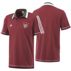 Polo Fluminense Adidas 2013 - 2014 Grená - Personalize Patch 47bd1a095572a