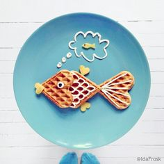 You Are My Heart and Sole! (For @foreldreogbarn magazine) #waffles #yoghurt #nectarine #foodart #breakfast #fish