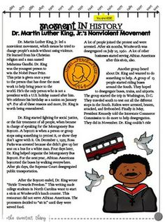 {Martin Luther King, Jr.} MLK Leveled Reading Comprehension Passage + Questions for Guided Reading