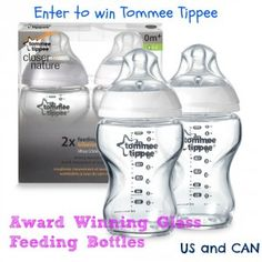 Win Tommee Tippee Award winning glass feeding bottles #baby #EcoFriendly #BottleFeeding #Giveaway #ad