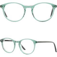 a8ee64cccf3 Light Round Womens Acetate Plastic Frames Spring Hinges Glasses Eyeglasses  Green Prescription Glasses Frames
