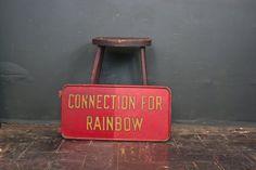 1930s The Rainbow Train Sign / PRR / Pennsylvania Railroad Sign