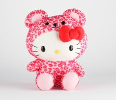 "Hello Kitty 8"" Safari Plush: Leopard"