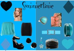 """""""summertime"""" by starr178 ❤ liked on Polyvore"""