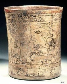 The Princeton Vase: Maya, Late Classic Period (600-900 CE)