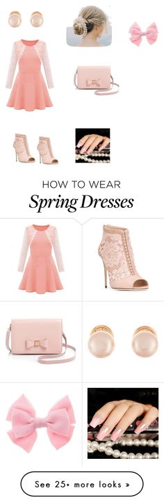 """Darling in Spring"" by kellyboo21 on Polyvore featuring Dolce&Gabbana, Ted Baker and Kenneth Jay Lane"