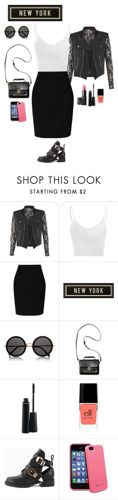 """Hey New York!"" by catarina-santos ❤ liked on Polyvore featuring Glamorous, L.K.Bennett, Spicher and Company, NARS Cosmetics, The Row, Monki and MAC Cosmetics"