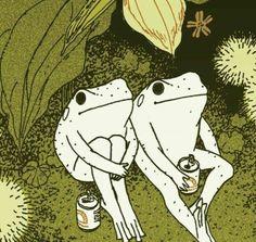 Arte Indie, Frog Art, Arte Obscura, Cute Frogs, Hippie Art, Hippie Drawing, Hippie Painting, Psychedelic Art, Aesthetic Art