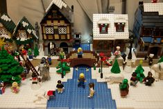 Lego Christmas Village by Rob Bender, via Flickr