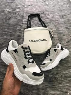 Balenciaga track sneakers Each season, luxury designer brands release designer sneakers that are rich in signature styles and appealing colors. To create a contemporary fresh look - Balenciaga track sneakers Sneakers Fashion, Fashion Shoes, Shoes Sneakers, Shoes Heels, Mules Shoes, Fashion Dresses, High Heels, Balenciaga Sneakers, White Balenciaga