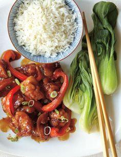Fryer-Less General Tao Chicken Recipe Chicken Stir Fry, Tso Chicken, Crispy Chicken, Poulet General Tao Ricardo, Portuguese Chicken Recipes, Chinese Chicken Dishes, Chinese Food, Asian Recipes, Chicken