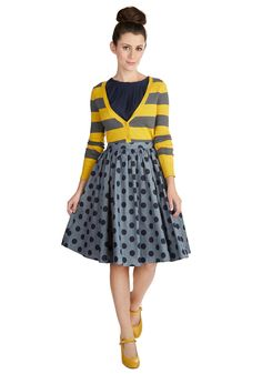 Saturday Sojourn Skirt. A day trip by train? #blue #modcloth $60