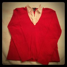 Women's shirt sweater. Women's Chaps brand 1pc shirt sweater. Size medium. Pairs nicely with jeans or slacks. Chaps Sweaters