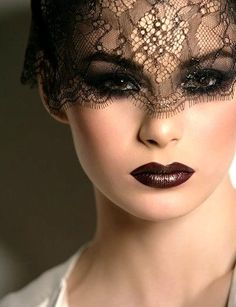 Lebanese Makeup Artist make-up-hair-nails Lebanese Makeup, Beauty Makeup, Hair Makeup, Lace Mask, Foto Fashion, Too Faced, Dark Lips, Hazel Eyes, Dark Beauty