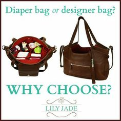 Diaper Bag or Designer Bag?! No need to choose with @Lily Jade Be BOLD. The choice is yours. #giveaway