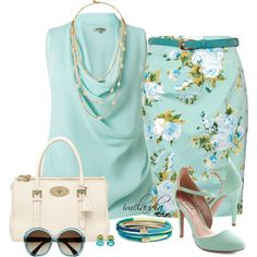 """Blue Cowl Neck Top"" by imclaudia-1 on Polyvore"