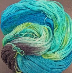 Handspun Hand Dyed Yarn Kid Mohair Elvincraft Sheep by elvincraft, £18.00