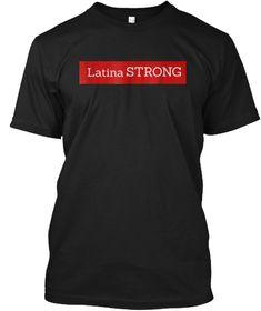 Latina Strong Ocasio Cortez T Shirt Black T-Shirt Front Color Guard Shirts,  Mom e5f3bee89c09