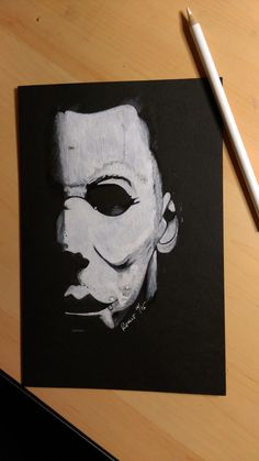 Loving Halloween 6x8 Mike Meyers  fixed the crooked shadow but i wont upload it