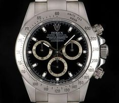 Rolex White Gold O/P Black Dial Zenith Movement Cosmograph Daytona Our Call or Text Now 661 038 and For More Information. Oyster Perpetual Cosmograph Daytona, Rolex Cosmograph Daytona, Rolex Daytona, Used Rolex, Bond Street, Vintage Rolex, Breitling, Rolex Watches, Men Watches