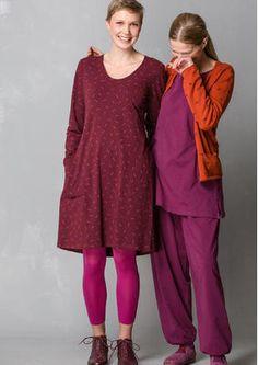 """Einfarbiges und bedrucktes Kleid """"Gunnel"""" aus Öko-Baumwolle/Elasthan 55700-55.jpg"""