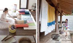 korean patchwork in house Korean Traditional, Traditional House, Types Of Craft, Korean Art, Fabric Squares, Textile Design, Interior And Exterior, Diy And Crafts, Trust