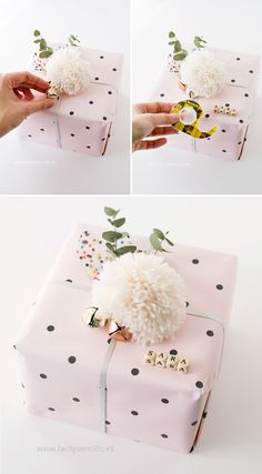 ▷ 80 Ideen wie Sie Geschenke schön verpacken mit Anleitung 80 ideas how to pack gifts beautifully with guidance. Present Wrapping, Creative Gift Wrapping, Creative Gifts, Creative Gift Packaging, Baby Gift Wrapping, Wrapping Papers, Wrapping Paper Design, Christmas Gift Wrapping, Christmas Diy