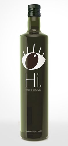 """The single-eye illustration and the greeting, work together to engage the consumer, reinforced by the line: """"I want to follow you."""" This powerful combination immediately captures consumer attention, making it impossible for prospective buyers not to spot this bottle on the shelf as it's so different and impactful. As soon as the consumer takes the bottle off the shelf and holds it in his hands, he can read on the back of the bottle, the following text:"""