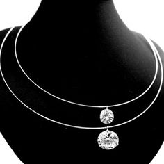 Simple Natural Double Crystal with Earring Gift Box Plating Necklace Set NS1893A